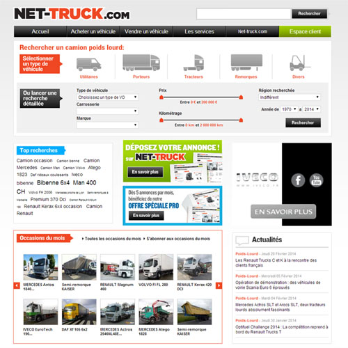 Camion occasion - Net-truck.com